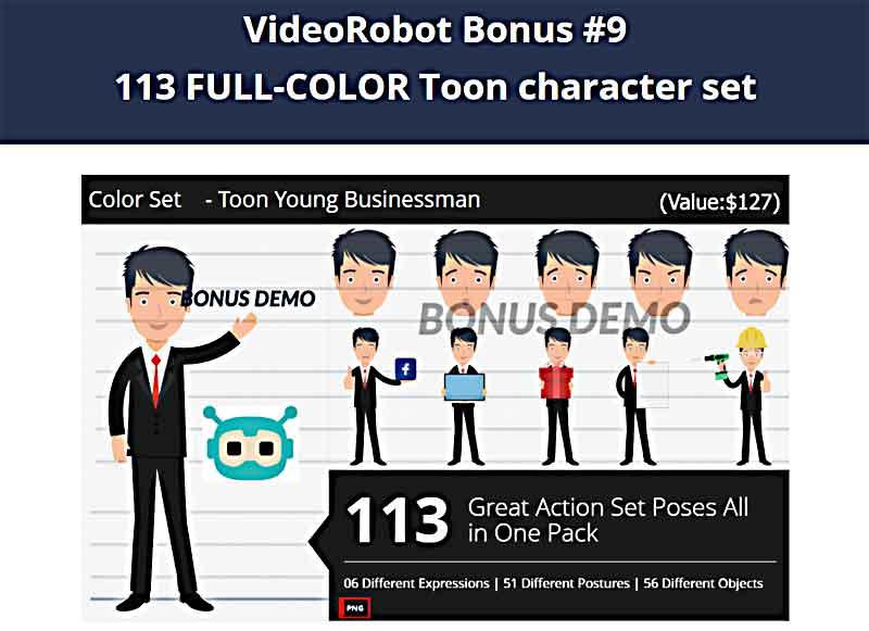 VideoRobot Bonuses from Hugh and Web Dimensions, Inc.