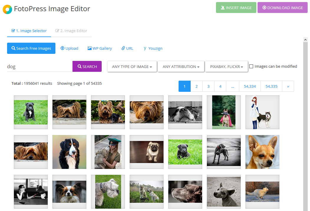 Instantly Find & Edit Millions of Images From Inside Your WordPress Site