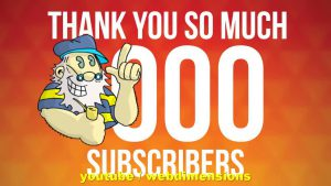 1000 Subscribers! Yay! youtube.com/webdimensions