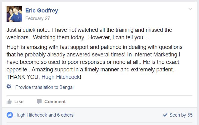 Hugh provides awesome support