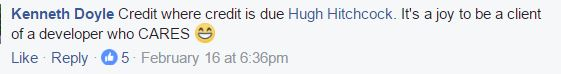 hugh is a developer who cares