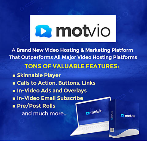 Motvio amazing video marketing platform and hosting